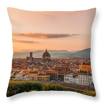 Golden Florence Throw Pillow