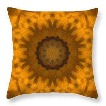 Golden Flower Throw Pillow by Dan Sproul
