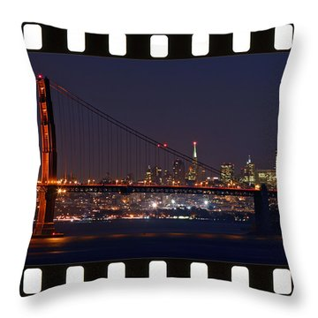 Throw Pillow featuring the photograph Golden Gate 35mm Frame by Christopher McKenzie
