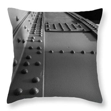 Golden Gate  Abstract Throw Pillow by Aidan Moran