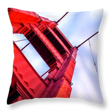 Golden Gate Boom Throw Pillow