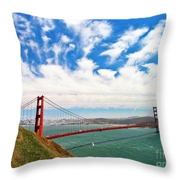 Golden Gate Bridge 1 Throw Pillow