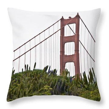 Throw Pillow featuring the photograph Golden Gate Bridge 1 by Shane Kelly
