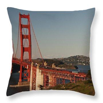 Throw Pillow featuring the photograph Golden Gate Bridge 2 by Lee Kirchhevel