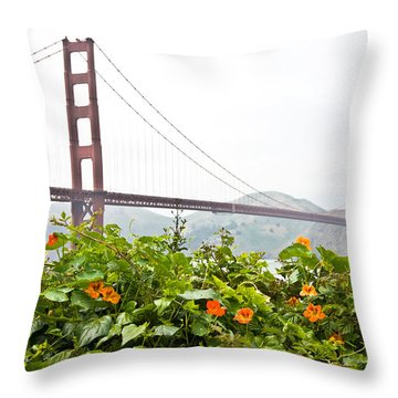Throw Pillow featuring the photograph Golden Gate Bridge 2 by Shane Kelly