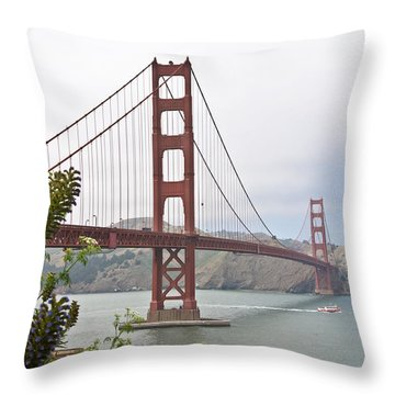 Throw Pillow featuring the photograph Golden Gate Bridge 3 by Shane Kelly