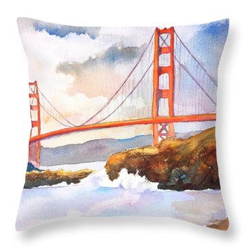 Golden Gate Bridge 4 Throw Pillow