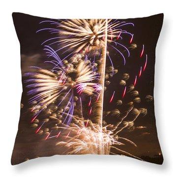 Golden Gate Bridge 75th Anniversary Fireworks 10 Throw Pillow