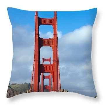 Golden Gate Bridge Throw Pillow by Adam Romanowicz