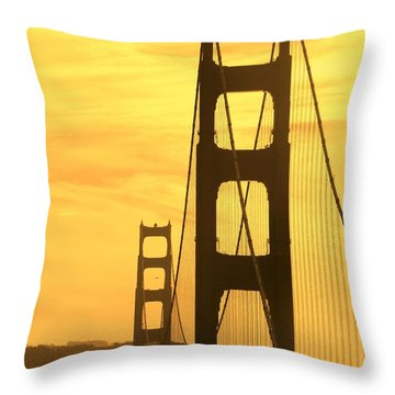 Throw Pillow featuring the photograph Golden Gate Bridge  by Clare Bevan