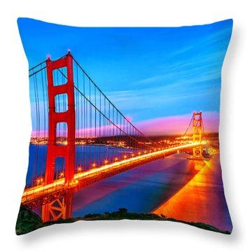 Follow The Golden Trail Throw Pillow
