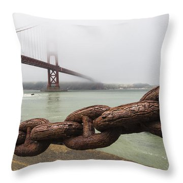 Golden Gate Bridge Chain Throw Pillow