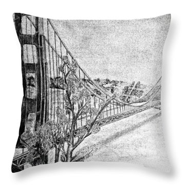 Golden Gate Bridge Throw Pillow by Irving Starr