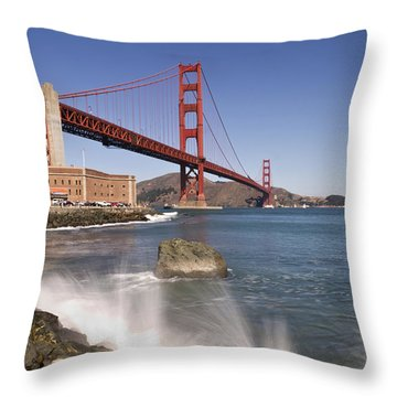 Golden Gate Bridge Throw Pillow by Melanie Viola