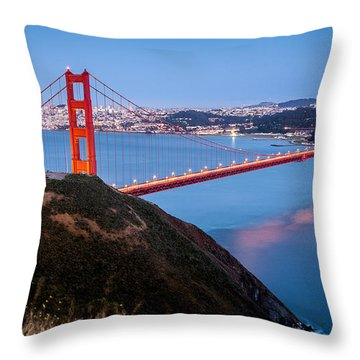 Throw Pillow featuring the photograph Golden Gate Bridge by Mihai Andritoiu