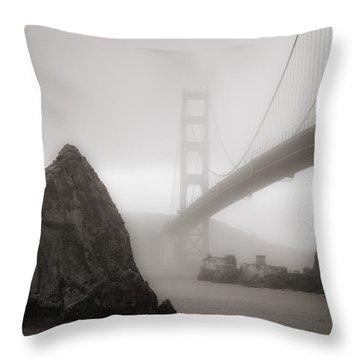 Golden Gate Bridge Throw Pillow by Niels Nielsen