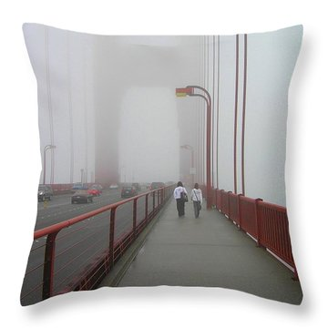 G. G. Bridge Walking Throw Pillow