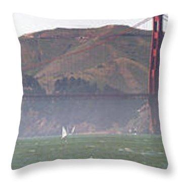 Golden Gate Bridge Panorama Throw Pillow