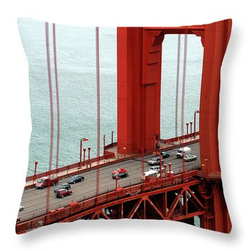Golden Gate Bridge Throw Pillow by Yue Wang