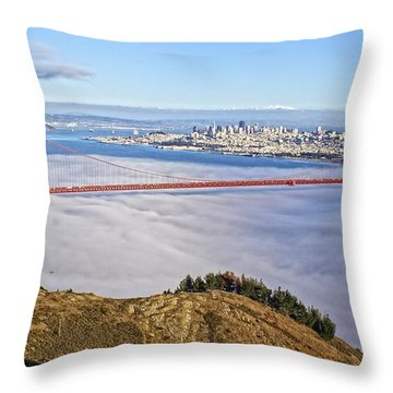 Throw Pillow featuring the photograph Golden Gate by Dave Files