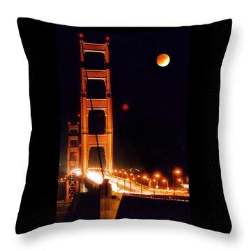 Golden Gate Night Throw Pillow by DJ Florek