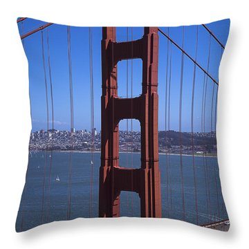 Golden Gate North Span Throw Pillow