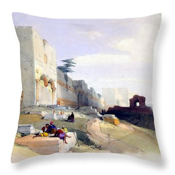 Golden Gate Of The Temple Throw Pillow