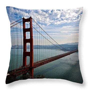 Golden Gate Open Throw Pillow