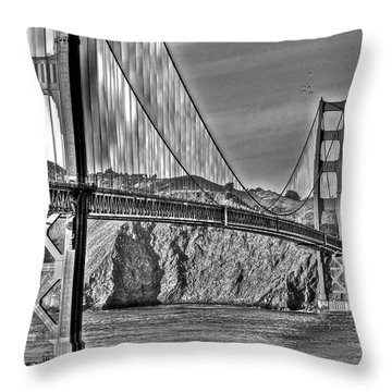 Golden Gate Over The Bay 2 Throw Pillow