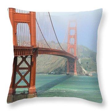 Throw Pillow featuring the photograph Golden Gate by Steven Bateson