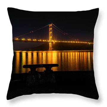 Throw Pillow featuring the photograph Golden Gate by Steven Reed