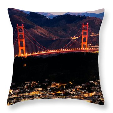Golden Gate Sunrise Throw Pillow