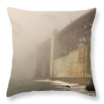 Golden Gate Superfog Throw Pillow