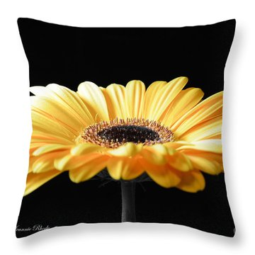 Golden Gerbera Daisy No 2 Throw Pillow