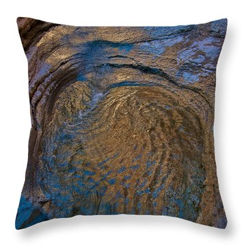 Golden Glamour Throw Pillow