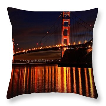 Throw Pillow featuring the photograph Golden Glory by Dave Files