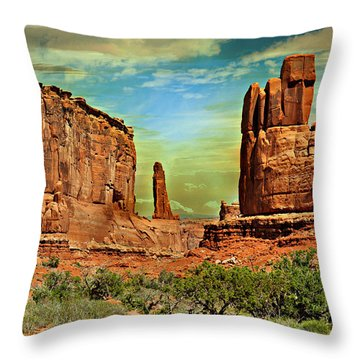Golden Glow On Park Avenue Throw Pillow by Marty Koch