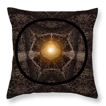 Throw Pillow featuring the digital art Golden Glow Throw by Gayle Price Thomas