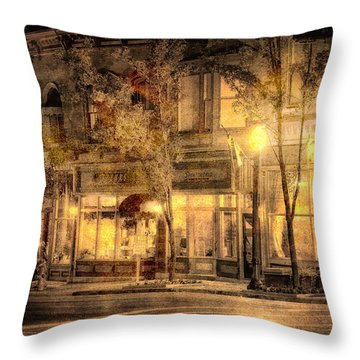 Golden Glow Throw Pillow by William Beuther