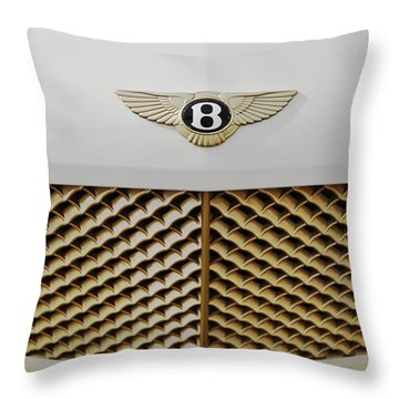 Golden Grill Bentley Throw Pillow by Maj Seda