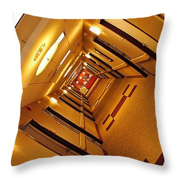 Golden Hall Throw Pillow by Frozen in Time Fine Art Photography