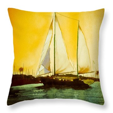 Golden Harbor  Throw Pillow by Kip DeVore
