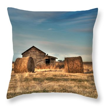 Golden Hay Throw Pillow