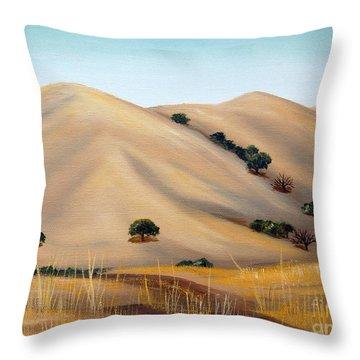 Golden Hills Throw Pillow