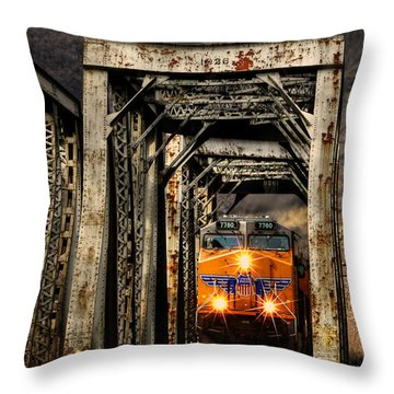 Throw Pillow featuring the photograph Golden Hour Crossing by Ken Smith