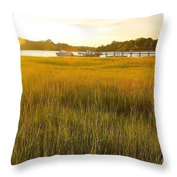 Golden Hour On Cape Cod Throw Pillow