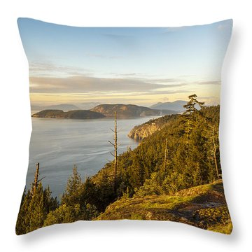 Golden Hour On The Salish Sea Throw Pillow