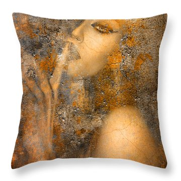 Golden Hush Throw Pillow by Greg Sharpe