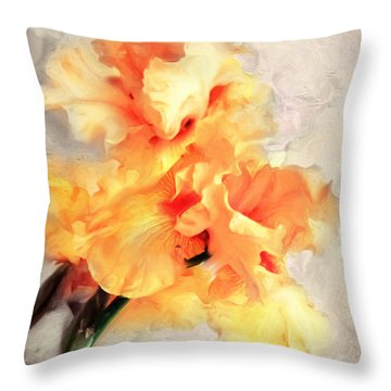 Golden Iris 1 Throw Pillow