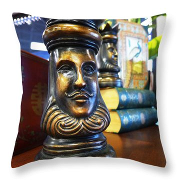 Golden King Throw Pillow by Richard Reeve